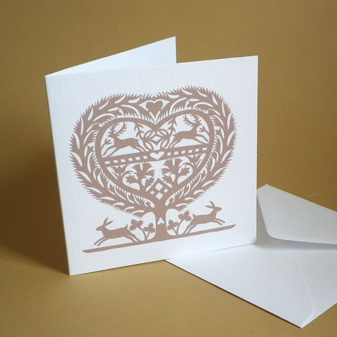 March,Hares,Heart,Card,for,anniversaries,,weddings,,engagements,or,valentine.,Paper_Goods,Cards,Blank,March Hares,Wedding, Anniversary, Engagement, Notelets,Folk_Art,Papercuts,Silhouettes,Hearts,Gift_for_her,Cards_Love_Hearts,Romantic,Gift_for_friend