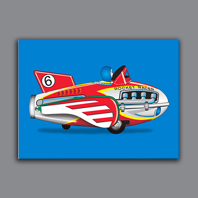 Rocket Racer Canvas Print - product images  of