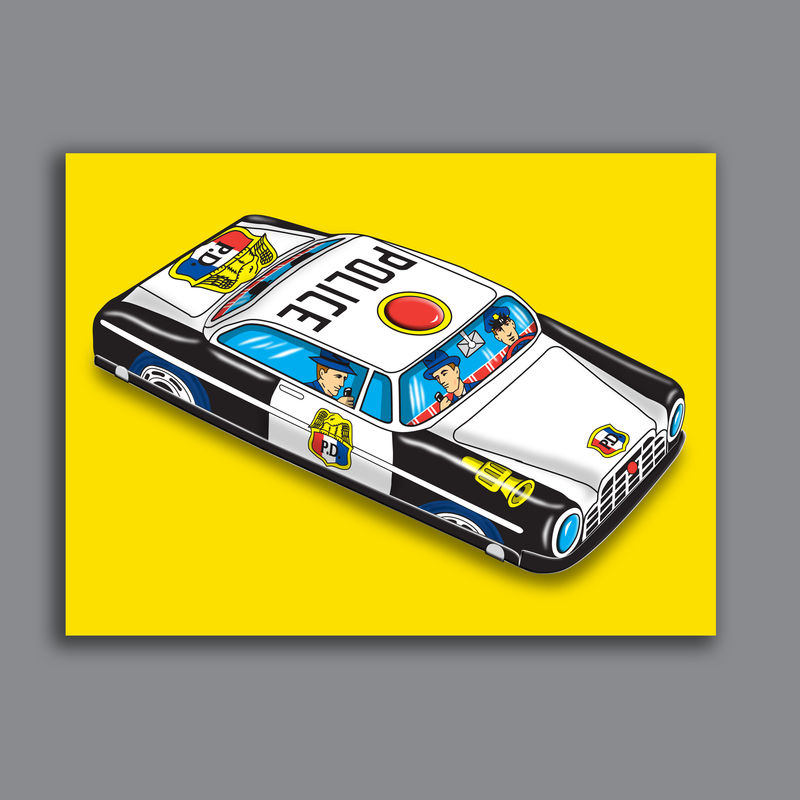PD Patrol Car Pop Art Canvas Print - product images  of
