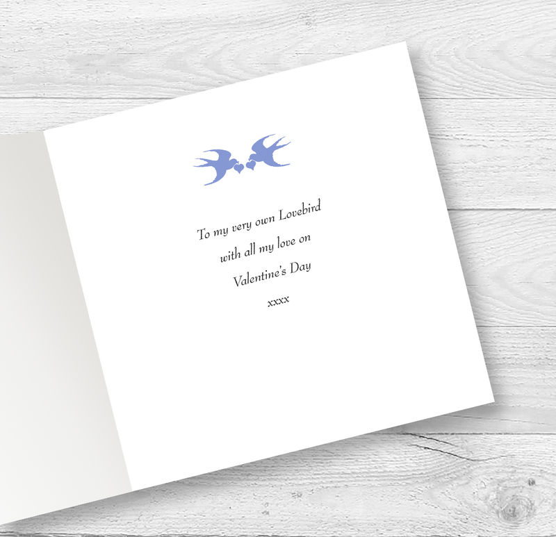 Personalised Love Birds Valentine, Anniversary Or Engagement Card - product images  of
