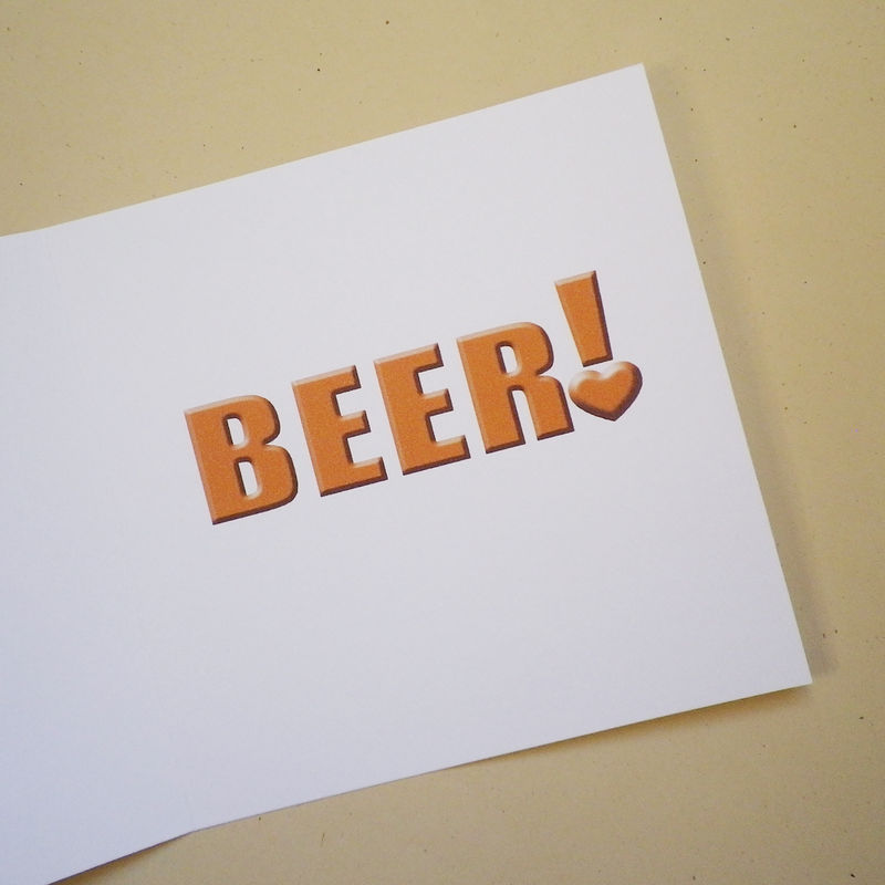 I love you more than beer! (or your own personalisation) card - product images  of
