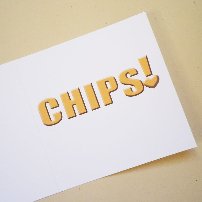I love you more than chips! (or your own personalisation) card - product images  of