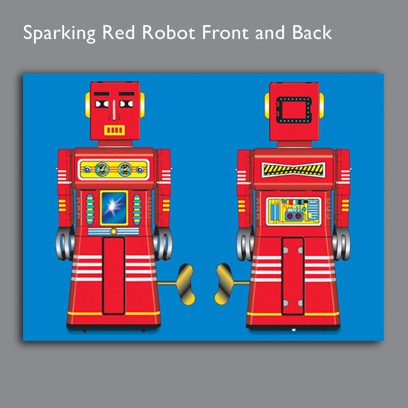 Sparking Red Robot Canvas Print - product images  of