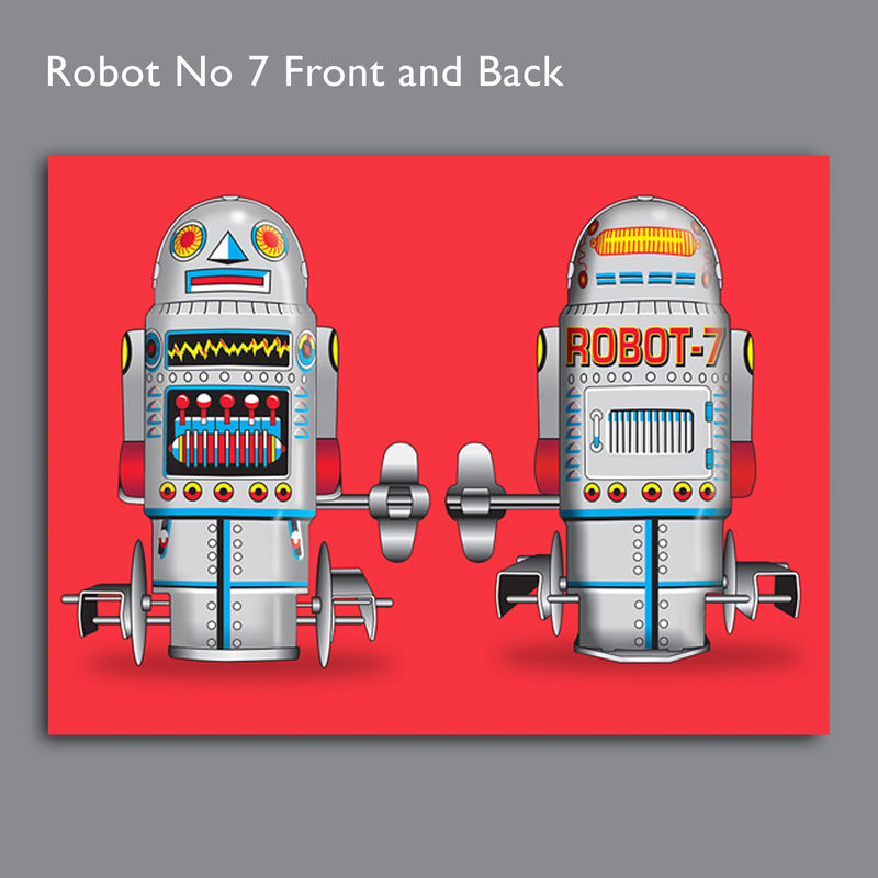 Robot No 7 Canvas Print - product images  of