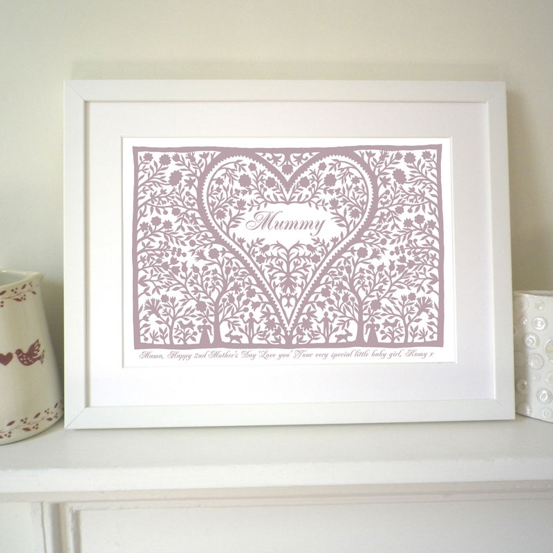 Personalised Mum's Love Heart Print - product images  of