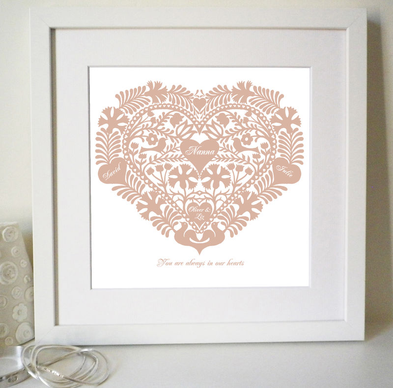 Personalised Love Token Mother's Day Print - product images  of