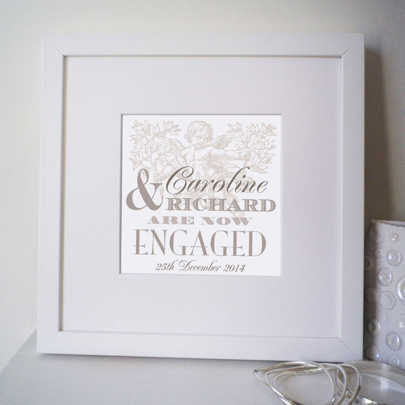 Personalised Engagement Names Print - product images  of