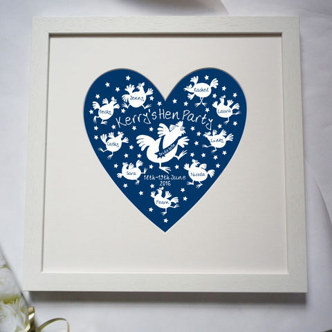 Personalised,Hen,Do,or,Party,Print,Weddings,Decoration,Hen_Party,Memento,Keepsake,Wedding_Gift,Hen_Party_Gift,Heart,Pink,Hens,Chickens,Brides,Bridesmaids