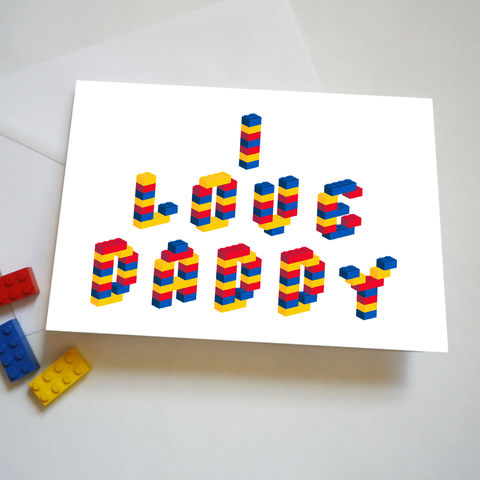 Personalised,Building,Brick,Father's,Day,Or,Birthday,Card,Personalised Fathers Day or Birthday Card