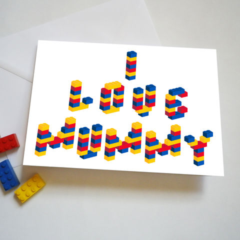 Personalised,Building,Brick,Mother's,Day,Or,Birthday,Card,Personalised Mothers Day or Birthday Card