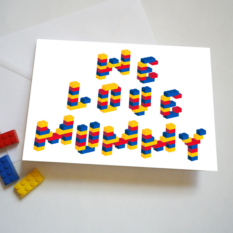 Personalised Building Brick Mother's Day Or Birthday Card - product images  of