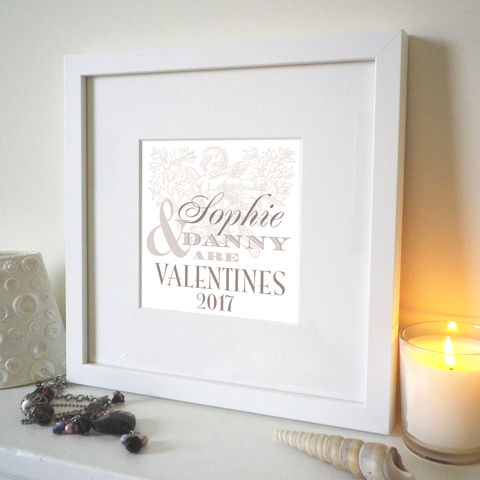 Personalised,Valentine,Names,Print,Wedding print, vintage type, Wedding Couple gift