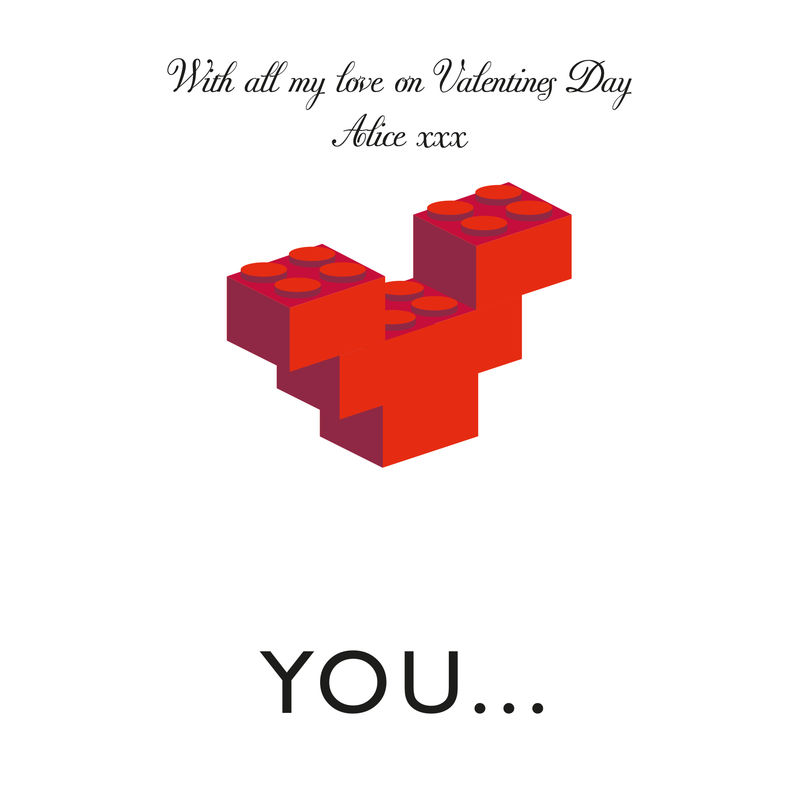 Lovers Building Block Heart Card - product images  of