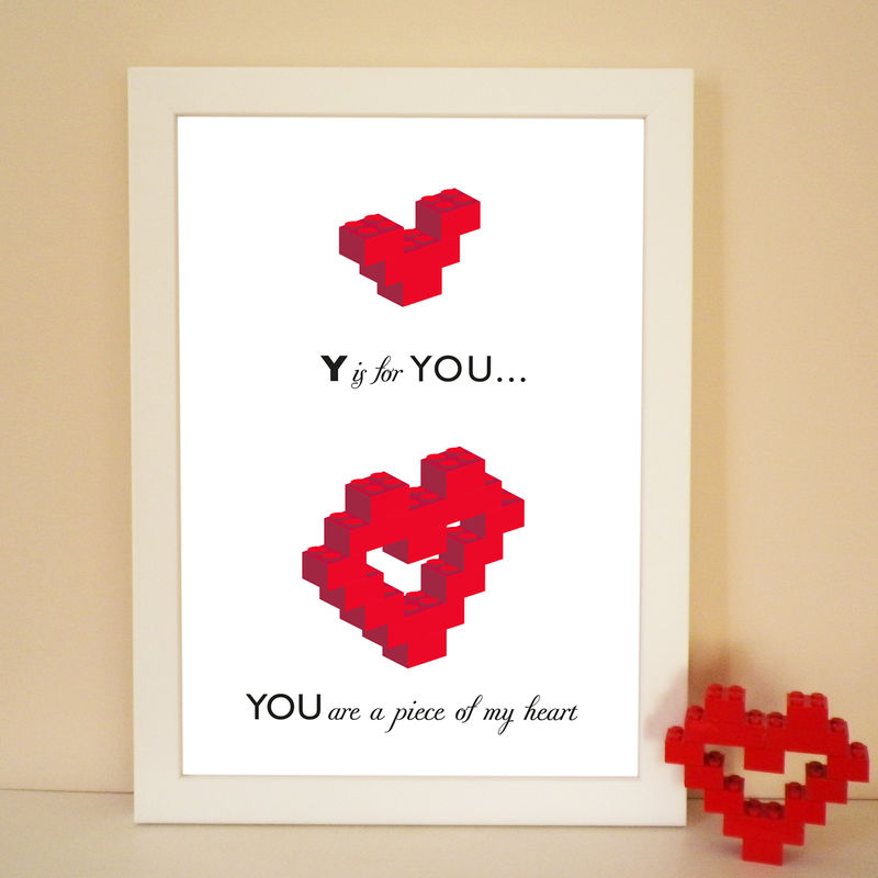 Lovers Building Block Piece of My Heart Print - product images