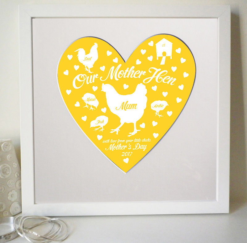 Personalised Mother Hen Mother's Day or Birthday Print - product images  of