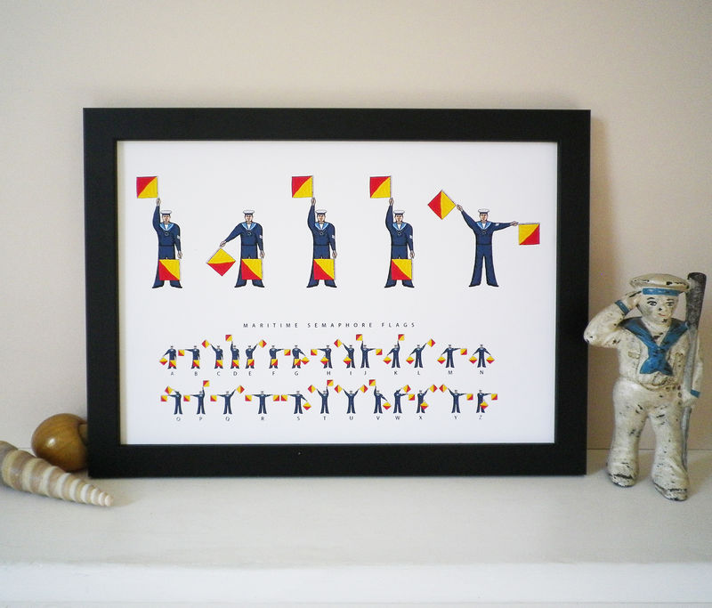 Daddy Semaphore Flags Print - product images  of