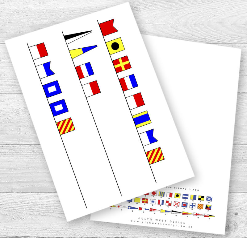 Personalised Signal Flags Age Birthday Card - product images  of