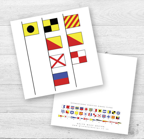 Signal,Flags,I,Love,You,Birthday,Card,Paper_Goods,Cards,Personalised, Valentine,Engagement,Wedding, Anniversary,Nautical, Sailing, Sailor