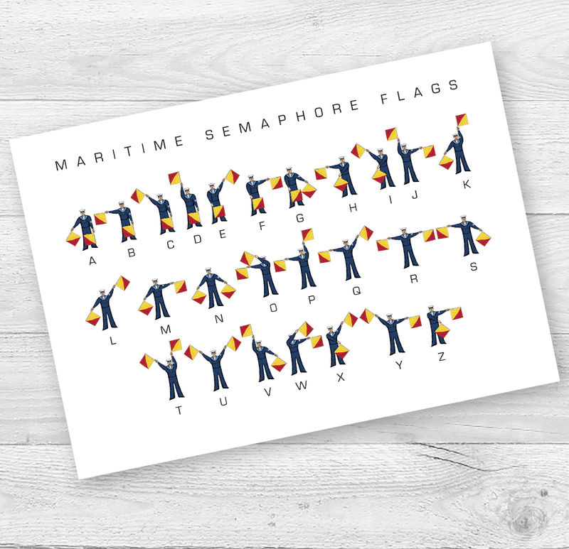 Semaphore Flags Alphabet Card - product images  of