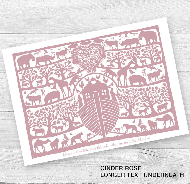 Personalised Noah's Ark Christening Or New Baby Card - product images  of