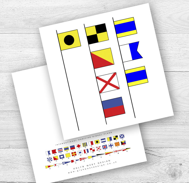 Signal Flags I Or We Love Dad Birthday Card - product images  of