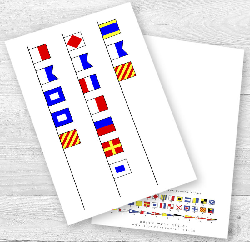 Father's Day Signal Flags Card - product images  of