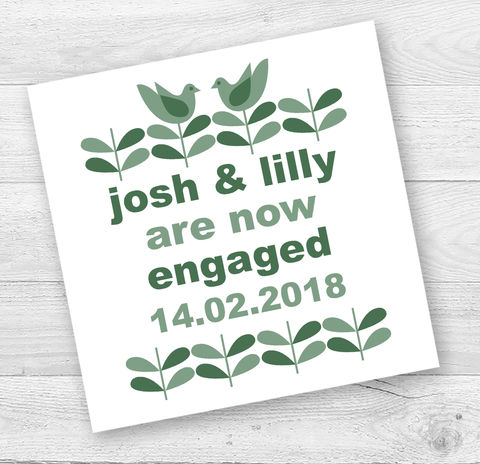 Personalised,Lovebirds,Engagement,or,Wedding,Card,Paper_Goods,Cards,Wedding Congratulations Card, Engagement Card,Typographic