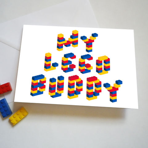 Building,Bricks,Buddy,Birthday,Card,My Lego Buddy Birthday Card