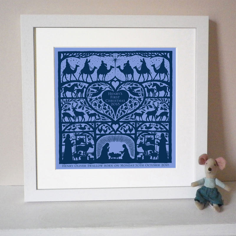 Personalised First Christmas Nativity Print - product images  of