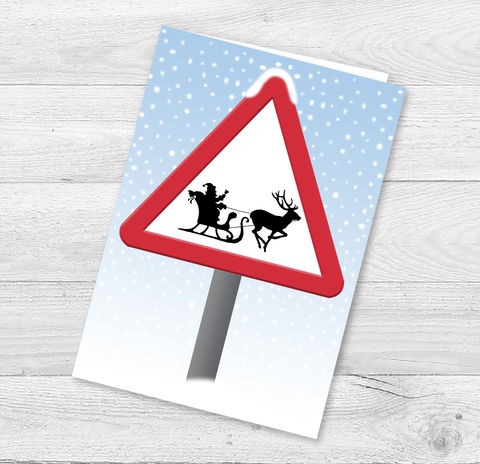 Beware,of,Santa,on,the,road,Christmas,Card,Paper_Goods,Christmas Cards,Funny Christmas Cards