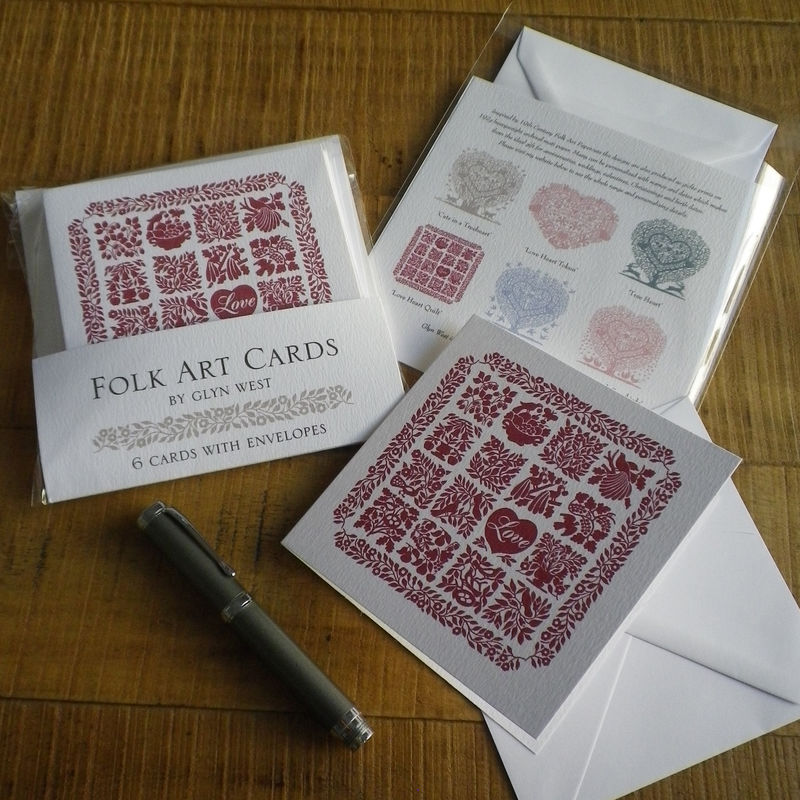 Folk Art Inspired Cards Six Pack - product images  of
