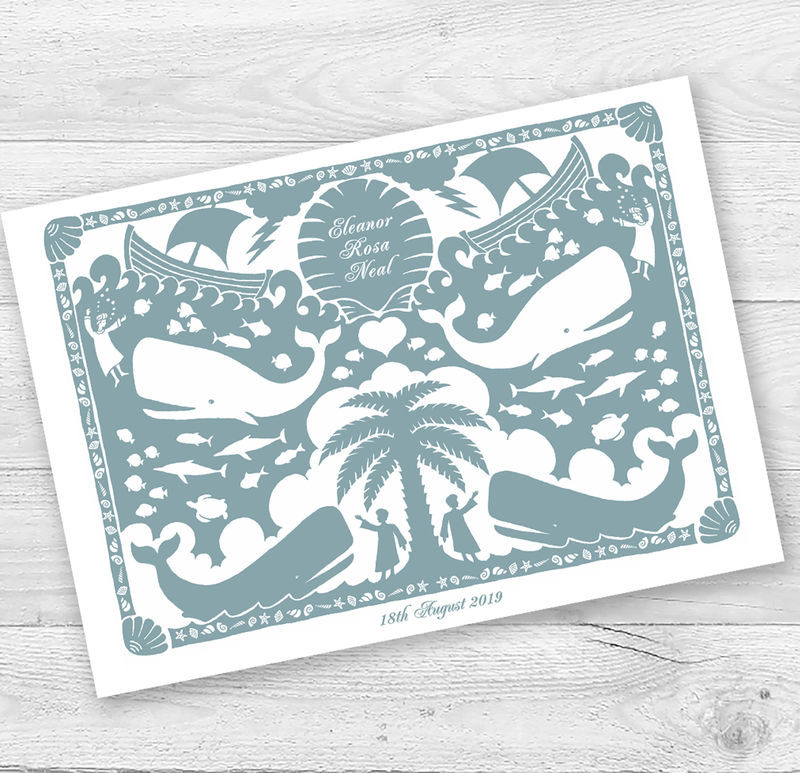 Personalised Jonah and the Whale Christening Or New Baby Card - product images  of