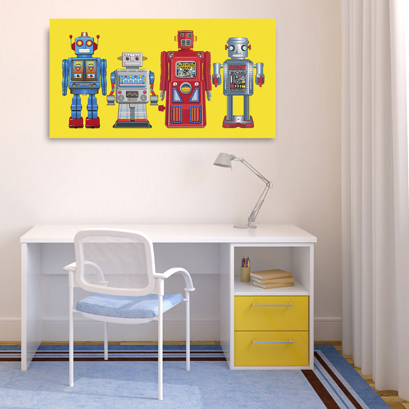 New 4 Robots Canvas Print - product images  of