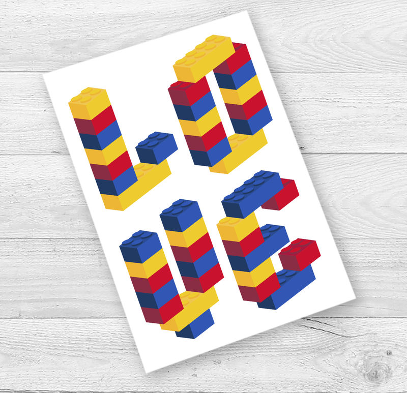 Building Brick Love Valentine's Card - product images  of