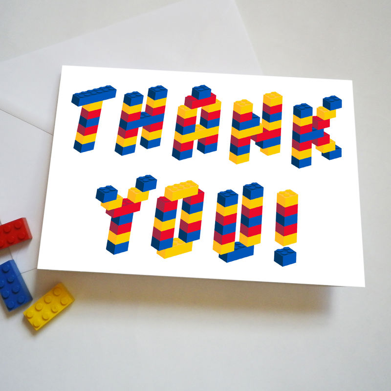 Building Bricks Thank You Card - product images  of