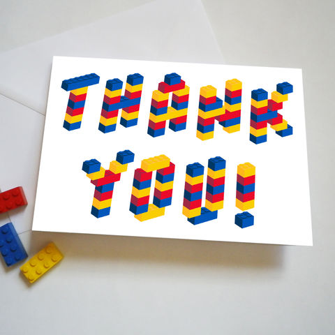 Building,Bricks,Thank,You,Card,Lego Thank You Card