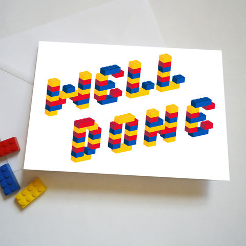 Building,Bricks,Well,Done,Card,Lego Well Done Card