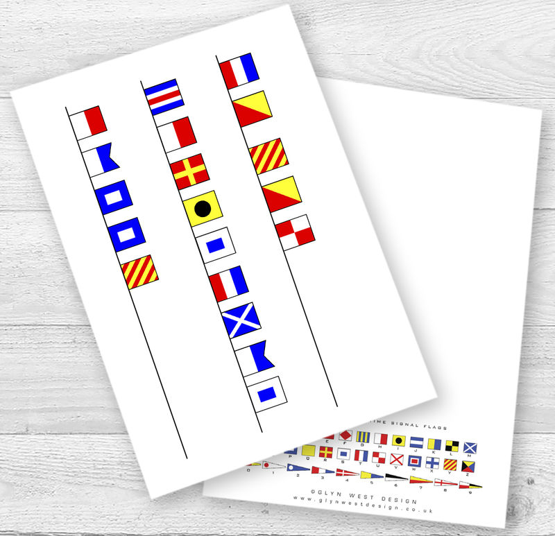 Nautical Signal Flags Christmas Card - product images  of