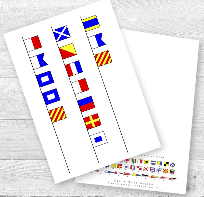 Mother's Day Signal Flags Card - product images  of