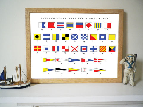 Nautical,Signal,Flags,Alphabet,Print,Signal Flags, Alphabet Print, Nautical Gift, Maritime