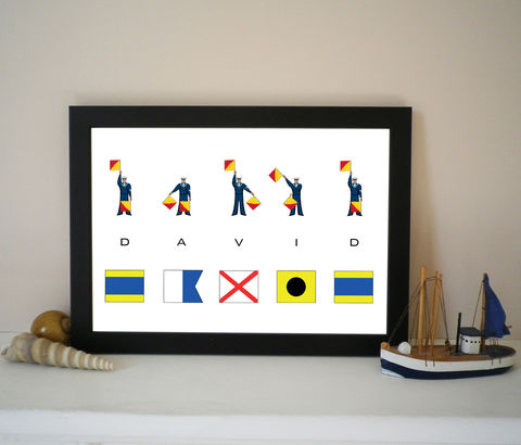 Personalised,Signal,Flags,and,Semaphore,Name,Print,Signal Flags, Semaphore Flags, Personalised Name Print, Nautical Gift, Maritime, Boat Name, Yacht Name