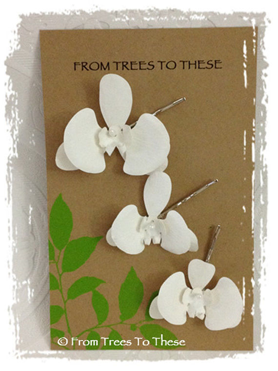 Phalenopsis Hair Clips (3) - product images  of