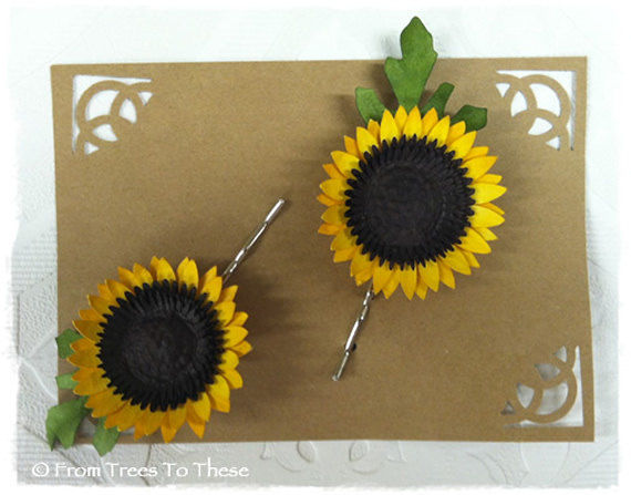 Sunflower Hair Pins (2) - product images  of