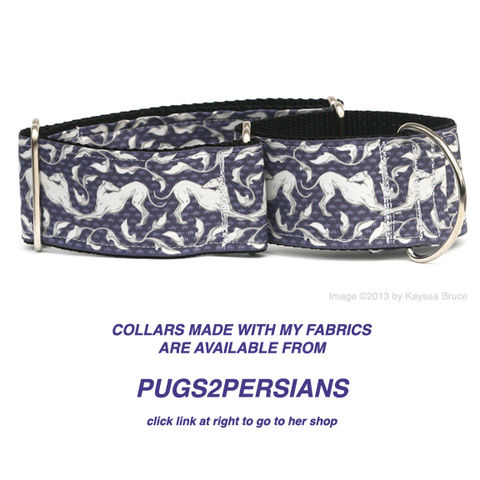 Pugs,to,Persians,martingale collar, greyhound collar, greyhound fabric collar, kaysea bruce, pugs2persians