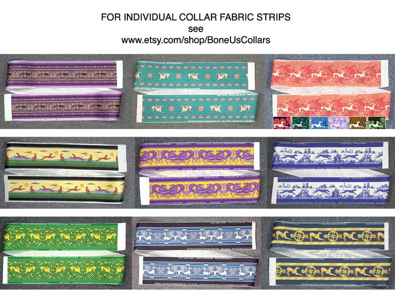 INDIVIDUAL FABRIC STRIPS: trim for making collars and for other projects - product images