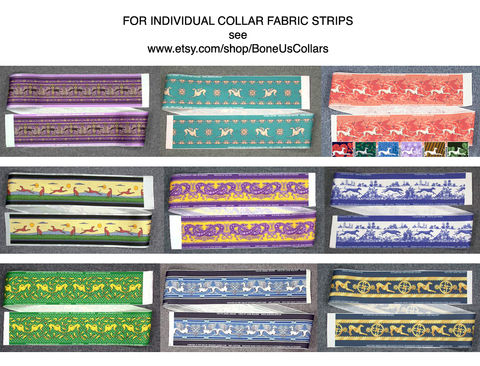INDIVIDUAL,FABRIC,STRIPS:,trim,for,making,collars,and,other,projects, ribbon, jane walker greyhound fabric, greyhound collar fabric, martigale collar fabric