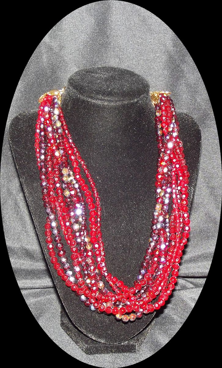 cherry products neck beads for glared jewelry making the necklace red