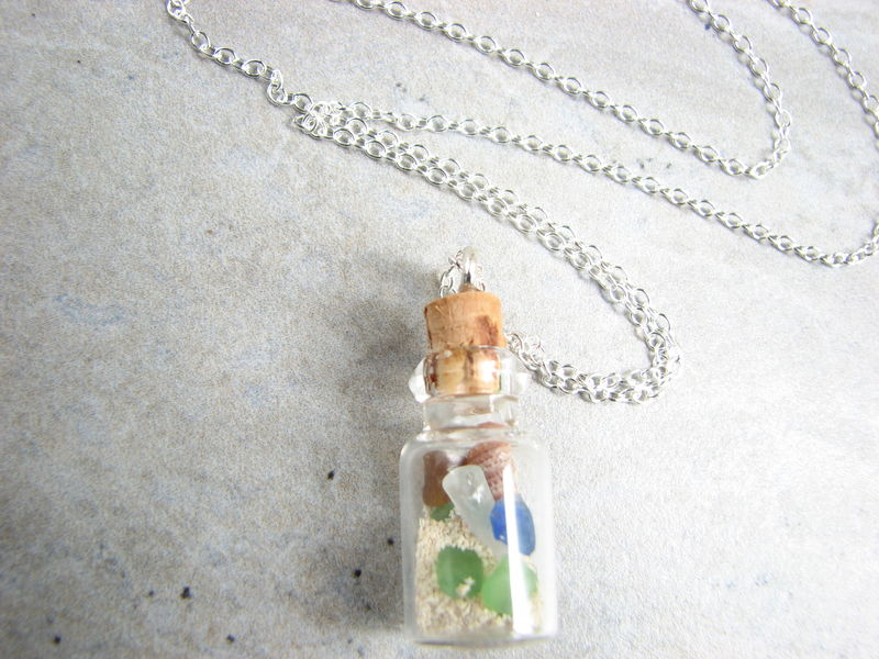 Beach in a Bottle Necklace - product images  of