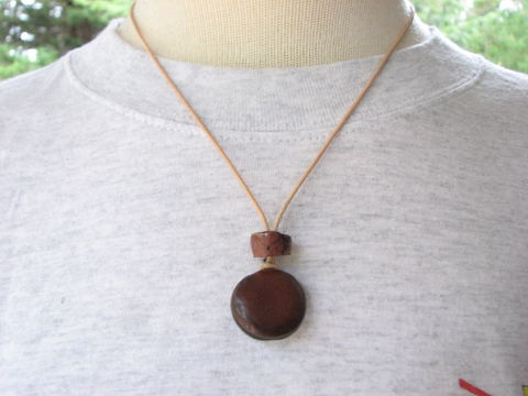 Natural,Sea,Bean,and,Stone,Leather,Necklace,natural jewelry, nature jewelry, sea bean jewelry, seabean jewelry, sheep's eye, mucuna seed jewelry, beach bean jewelry, beach seed, hamburger seed jewelry, seabean necklace, sea bean and stone, tan leather necklace, rustic mens necklace, mens seabean