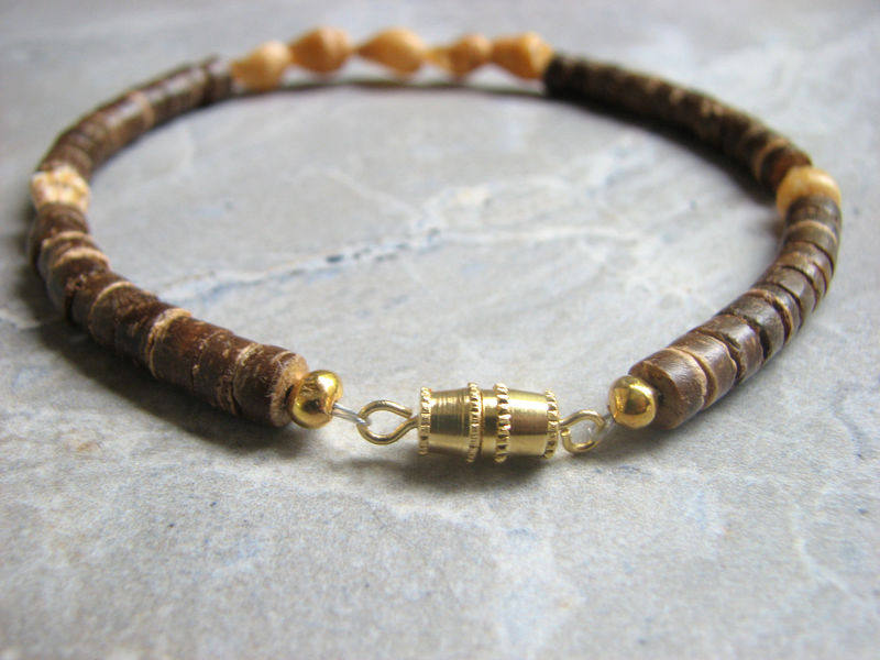 Coconut and Shell Anklet, Natural Beach Jewelry - product images  of